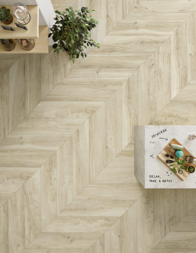Wooden Chevron Light Beige Botanic Shop